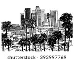 scene street illustration ... | Shutterstock .eps vector #392997769