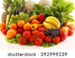 fresh fruits and vegetables | Shutterstock . vector #392999239