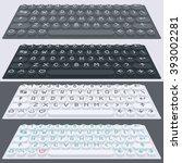 vector flat modern keyboard ...