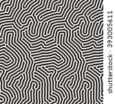 vector seamless black and white ... | Shutterstock .eps vector #393005611