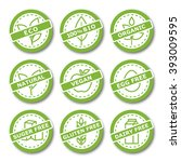 set of labels for organic ...