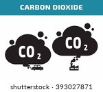carbon dioxide icon.... | Shutterstock .eps vector #393027871