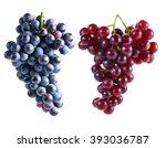 dark grapes and red grapes... | Shutterstock . vector #393036787