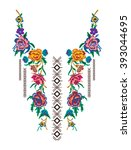 ethnic neck embroidery for... | Shutterstock .eps vector #393044695