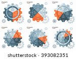 vector gear wheel cogwheel... | Shutterstock .eps vector #393082351