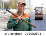 portrait happy male road...   Shutterstock . vector #393082531