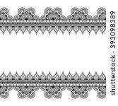 border seamless pattern... | Shutterstock .eps vector #393098389