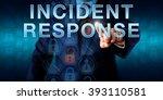 incident coordinator is...   Shutterstock . vector #393110581