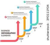 business timeline infographic... | Shutterstock .eps vector #393111934