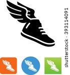 flying shoe symbol for download.... | Shutterstock .eps vector #393114091