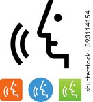 voice command icon | Shutterstock .eps vector #393114154