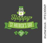 happy st patrick's day card ... | Shutterstock .eps vector #393130069