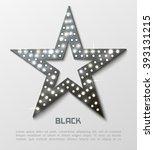 star retro black metal light... | Shutterstock .eps vector #393131215