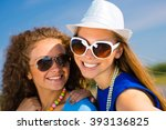 young girls | Shutterstock . vector #393136825