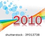 abstract 2010 design | Shutterstock .eps vector #39313738