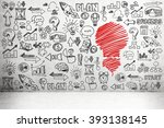 many black business icons on... | Shutterstock . vector #393138145