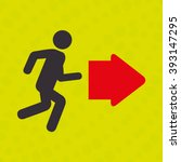 emergency route design  | Shutterstock .eps vector #393147295
