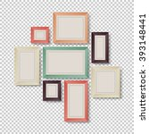 group of frames on transparent... | Shutterstock . vector #393148441