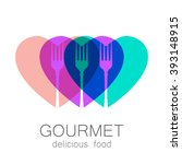 gourmet. delicious food.... | Shutterstock .eps vector #393148915