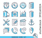 random icons set vector... | Shutterstock .eps vector #393160324