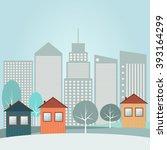modern city concept | Shutterstock .eps vector #393164299