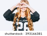 love. closeup portrait smiling...   Shutterstock . vector #393166381