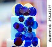 Delicious Blue Wedding Cake
