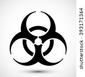 biohazard symbol on background. ... | Shutterstock .eps vector #393171364