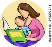 illustration of a mother... | Shutterstock .eps vector #393201241