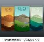 stock vector mobile interface... | Shutterstock .eps vector #393202771