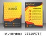 abstract vector modern flyers... | Shutterstock .eps vector #393204757