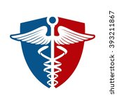 medical logo and shield   Shutterstock .eps vector #393211867