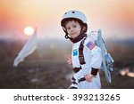 adorable little boy  dressed as ... | Shutterstock . vector #393213265