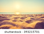 beautiful beach sand and sea at ... | Shutterstock . vector #393215701