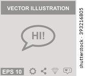 the hello vector  icon.   Shutterstock .eps vector #393216805