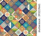 seamless pattern. vintage... | Shutterstock .eps vector #393219661