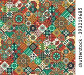 seamless pattern. vintage... | Shutterstock .eps vector #393219685