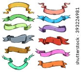 vector set of different color... | Shutterstock .eps vector #393226981