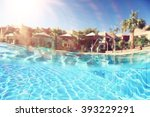 pool hotel sun tropical | Shutterstock . vector #393229291