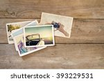 travel photo album of... | Shutterstock . vector #393229531