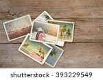 Summer Photo Album On Wood...