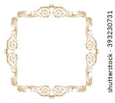 premium gold vintage baroque... | Shutterstock .eps vector #393230731