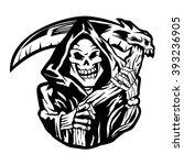 grim reaper sign   Shutterstock .eps vector #393236905