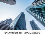 modern buildings  shanghai ... | Shutterstock . vector #393238699