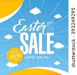 easter sale banner | Shutterstock .eps vector #393249295