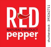 white logo with word red pepper ... | Shutterstock .eps vector #393262711
