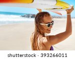 summer fun on holidays travel... | Shutterstock . vector #393266011