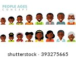 african american ethnic people... | Shutterstock .eps vector #393275665