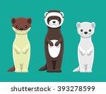 weasel mink ferret doll set...   Shutterstock .eps vector #393278599