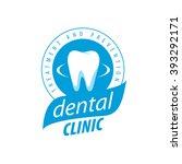 vector logo dentistry | Shutterstock .eps vector #393292171